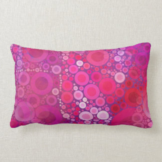 Funky Purple Pink Concentric Circles Girly Pattern Pillow