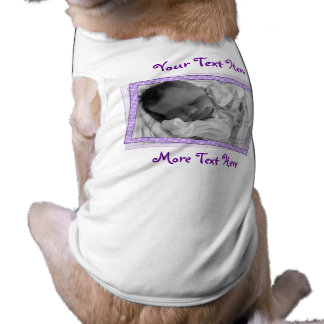 Funky Purple Polkadot Frame Pet Clothing