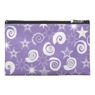 Funky Purple Stars and Swirls Fun Pattern Gifts Travel Accessories Bags
