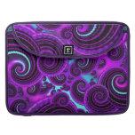 Funky Purple Swirl Fractal Art Pattern MacBook Pro Sleeve