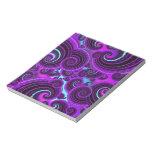 Funky Purple Swirl Fractal Art Pattern Memo Pads