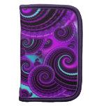 Funky Purple Swirl Fractal Art Pattern Planner