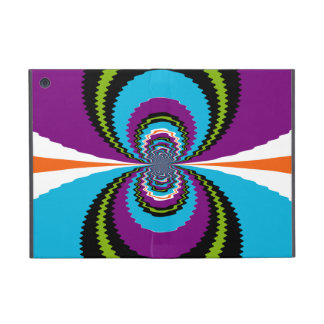 Funky Purple Teal Water Ripples Pattern Cases For iPad Mini