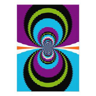 Funky Purple Teal Water Ripples Pattern Card