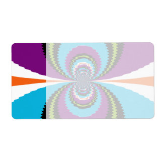 Funky Purple Teal Water Ripples Pattern Shipping Label