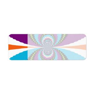 Funky Purple Teal Water Ripples Pattern Return Address Label