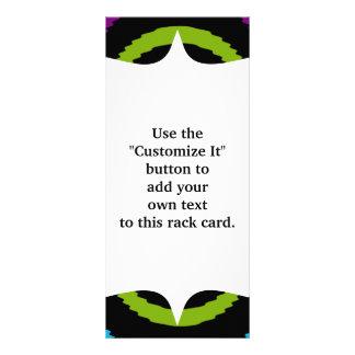 Funky Purple Teal Water Ripples Pattern Rack Card Template