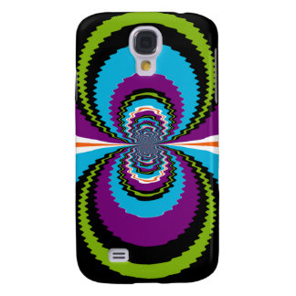 Funky Purple Teal Water Ripples Pattern Samsung S4 Case