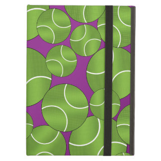 Funky purple tennis balls iPad air cover