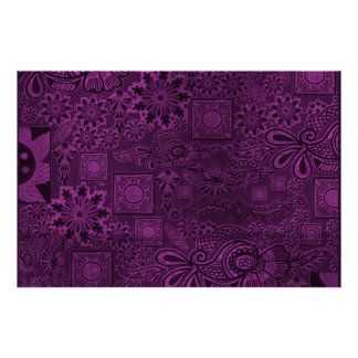 Funky purple texture poster