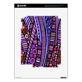 Funky Purple Tribal Pattern Decal For iPad 3