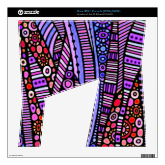 Funky Purple Tribal Pattern Decal For The Xbox 360 S