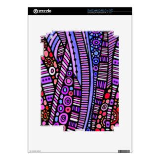 Funky Purple Tribal Pattern iPad 2 Skin