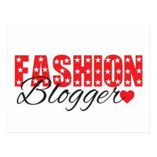 funky quotes fashion blogger postcard