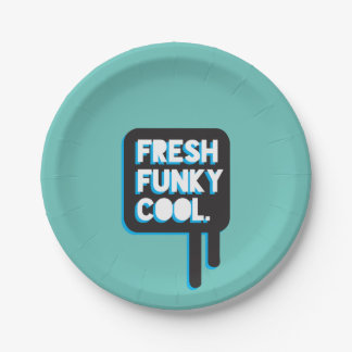 funky quotes fresh funky cool paper plate  sc 1 st  Zazzle & Funky Fresh Plates | Zazzle