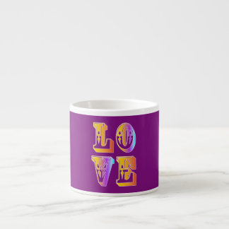 funky quotes love espresso cup