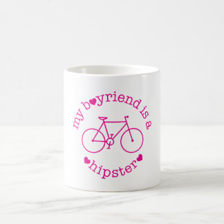 funky quotes my boyfriend is a hipster mug