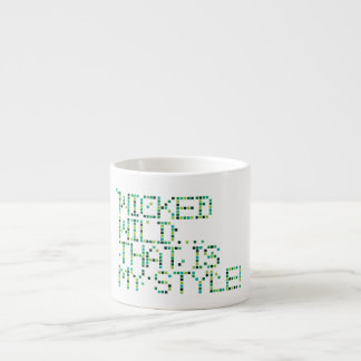 funky quotes wicked espresso cup