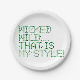 funky quotes wicked paper plates  sc 1 st  Zazzle & Funny Slogan Plates | Zazzle