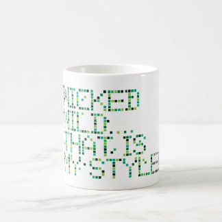 funky quotes wicked White 325 ml Classic White Mug