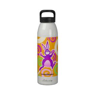 Funky rabbit, water bottle