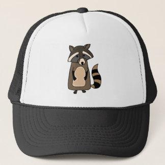 Funky Raccoon Cartoon Trucker Hat