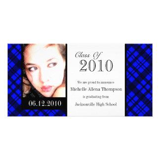 Funky Rad Plaid Graduation Announcement Photo Card
