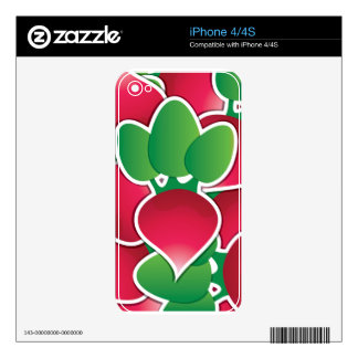 Funky radish decal for iPhone 4