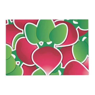 Funky radish placemat