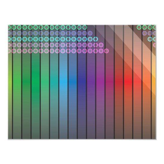 Funky Rainbow Abstract Card