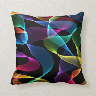 Funky rainbow Abstract color Throw Pillow