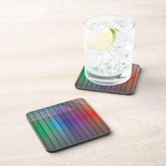 Funky Rainbow Abstract Drink Coaster