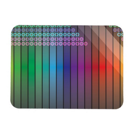 Funky Rainbow Abstract Flexible Magnet