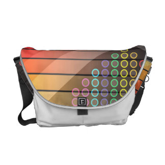 Funky Rainbow Abstract Messenger Bags