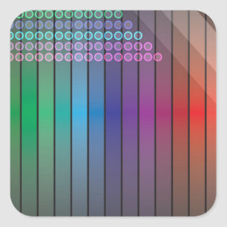 Funky Rainbow Abstract Square Sticker