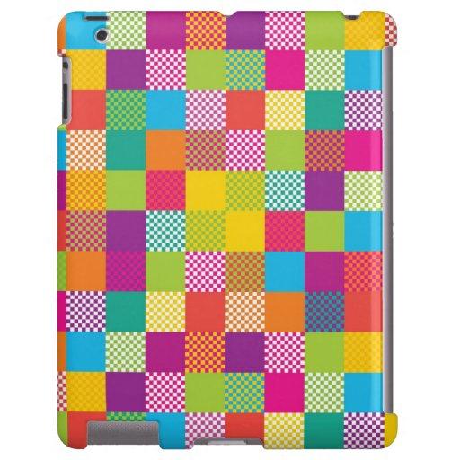funky rainbow checkered blocks