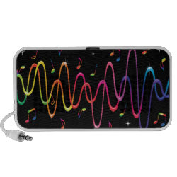 Cool funky sound waves doodle speakers, great for music lovers