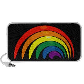 Funky Rainbow Design Doodle Mini Speakers