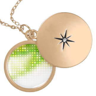 Funky Rainbow Dots Halftone Locket Necklace