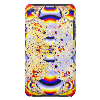 Funky rainbow fractal barely there iPod case