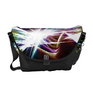 Funky Rainbow Halftone Courier Bags