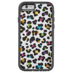 funky rainbow leopard pattern tough xtreme iPhone 6 case