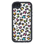 funky rainbow leopard print pattern iPhone 5 covers