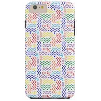 Funky Rainbow Memphis Design Tough iPhone 6 Plus Case