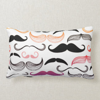 Funky Rainbow Mustache Design Throw Pillows