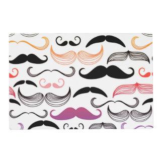Funky Rainbow Mustache Design Placemat