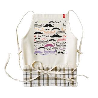 Funky Rainbow Mustache Design Zazzle HEART Apron