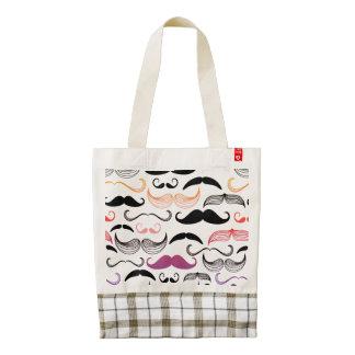 Funky Rainbow Mustache Design Zazzle HEART Tote Bag