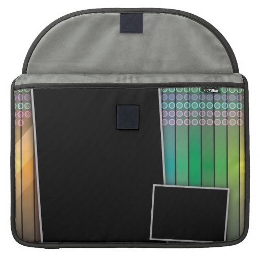 Funky rainbow page layout MacBook pro sleeve