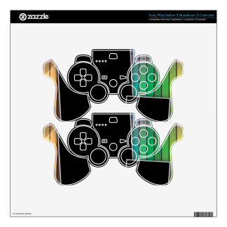 Funky rainbow page layout skin for PS3 controller